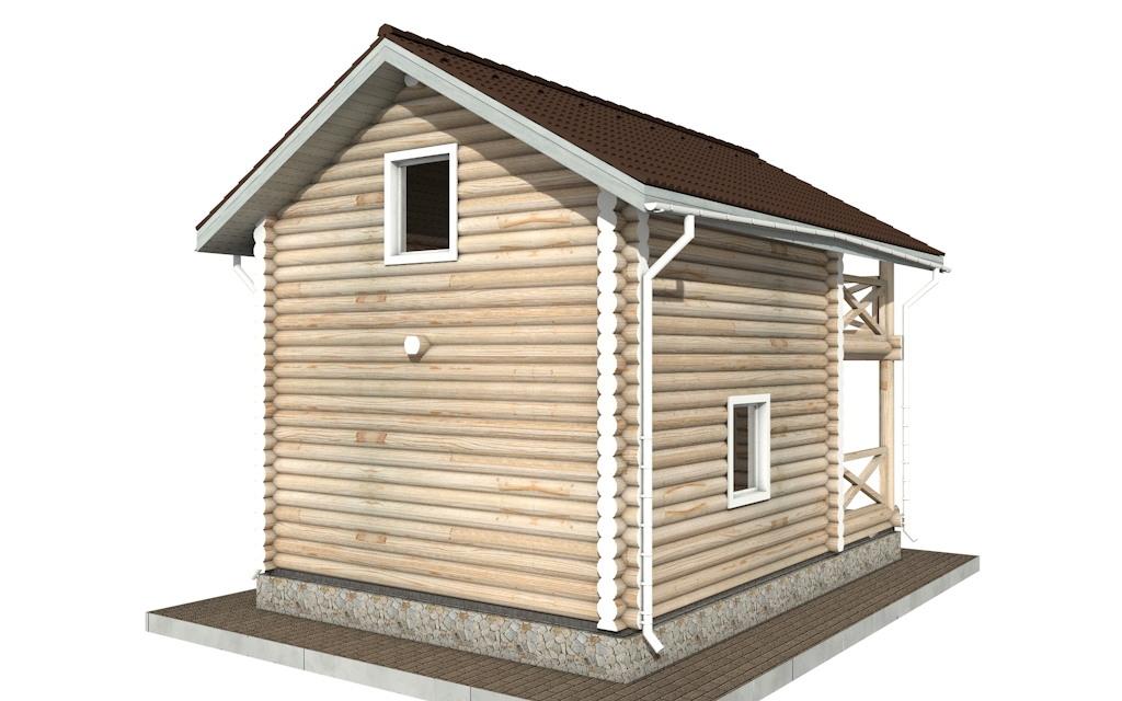 Фото #3: Красивый деревянный дом РС-92 из бревна