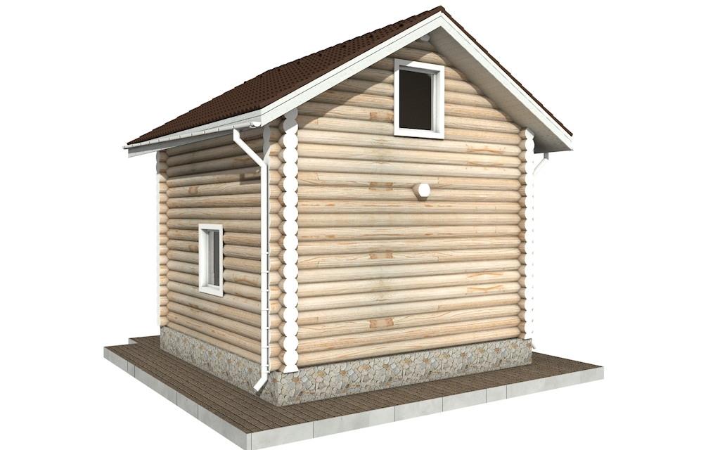 Фото #5: Красивый деревянный дом РС-95 из бревна