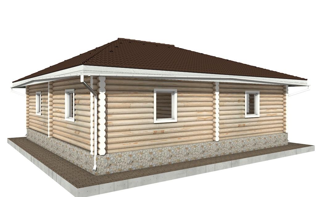 Фото #4: Красивый деревянный дом РС-96 из бревна