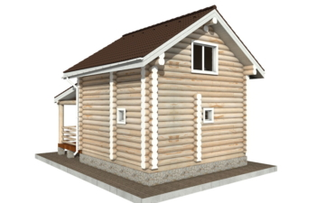 Фото #3: Красивый деревянный дом РС-99 из бревна