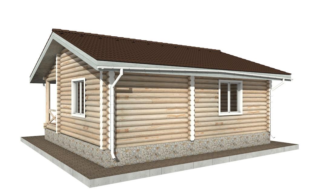 Фото #3: Красивый деревянный дом РС-101 из бревна