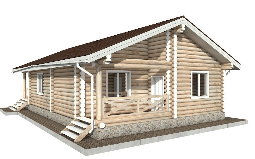 Фото #4: Красивый деревянный дом РС-102 из бревна