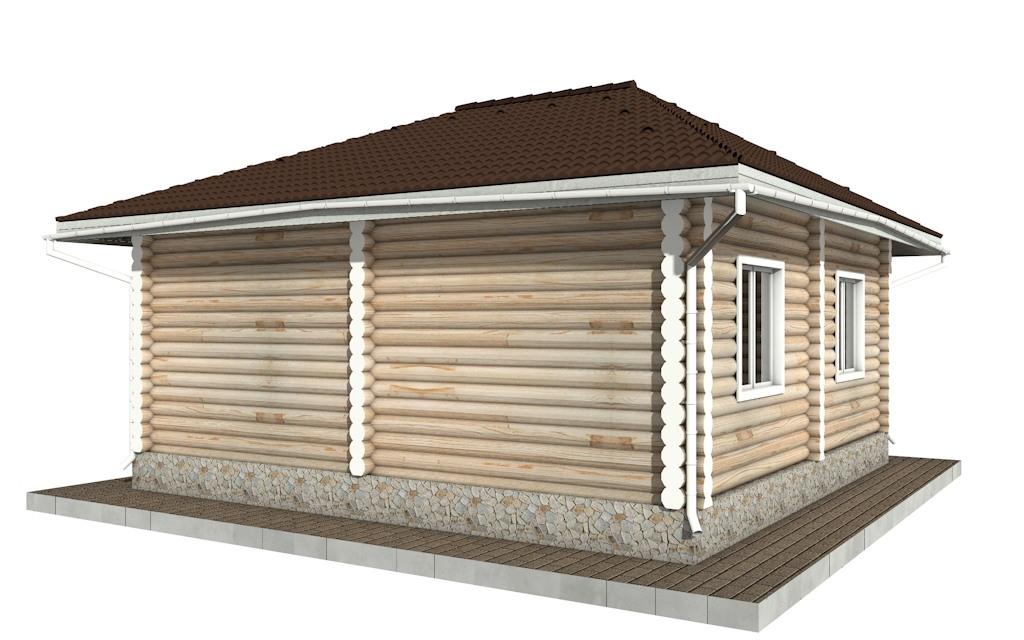 Фото #4: Красивый деревянный дом РС-89 из бревна