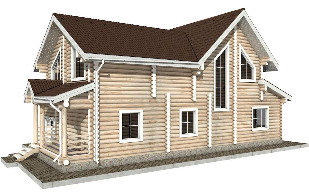 Фото #3: Красивый деревянный дом РС-31 из бревна