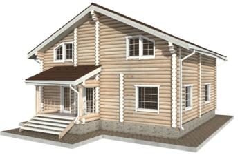 Фото #3: Красивый деревянный дом РС-26 из бревна