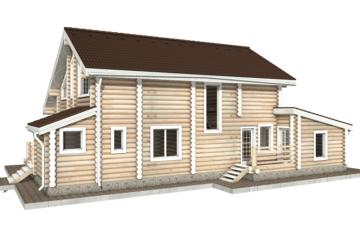 Фото #6: Красивый деревянный дом РС-37 из бревна