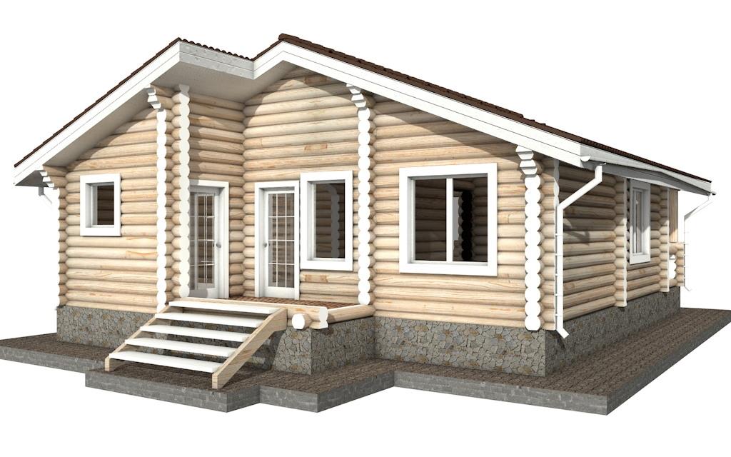 Фото #4: Красивый деревянный дом РС-38 из бревна