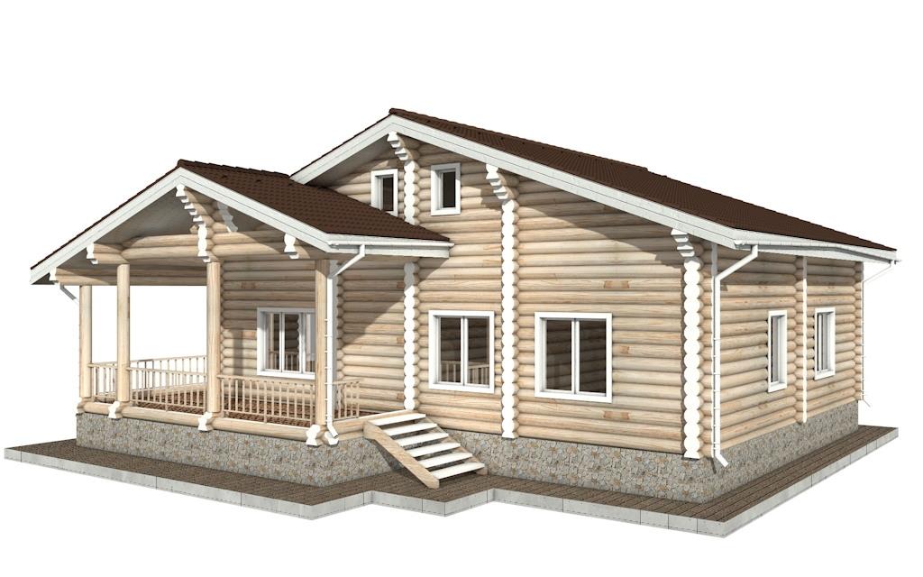 Фото #3: Красивый деревянный дом РС-40 из бревна
