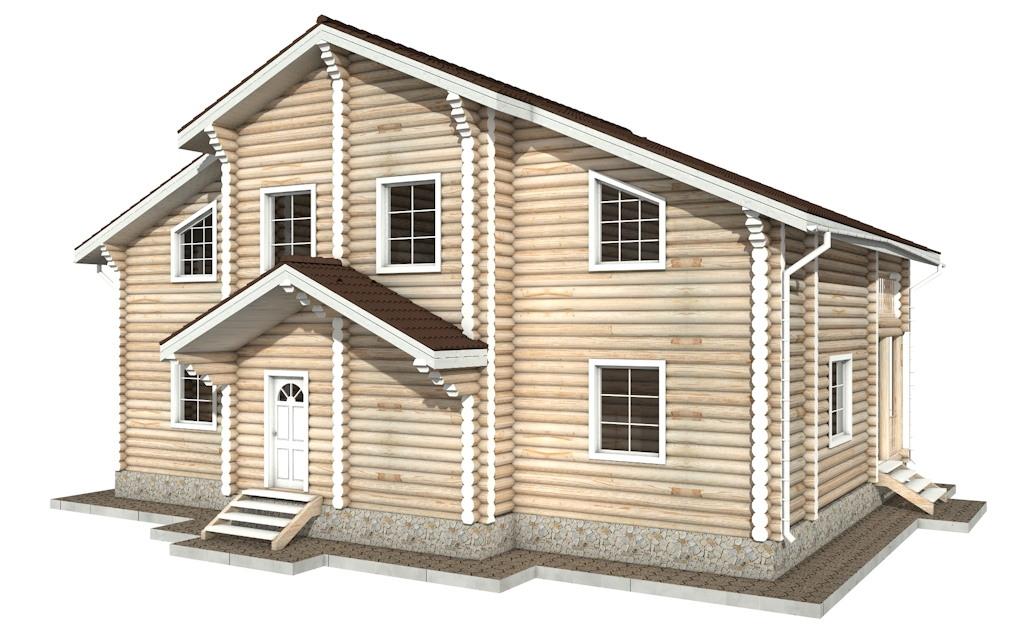Фото #3: Красивый деревянный дом РС-42 из бревна