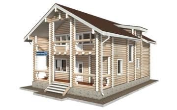 Фото #3: Красивый деревянный дом РС-48 из бревна