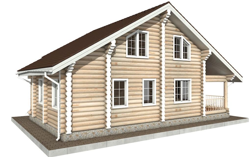 Фото #3: Красивый деревянный дом РС-87 из бревна