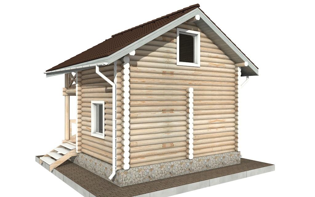 Фото #3: Красивый деревянный дом РС-100 из бревна