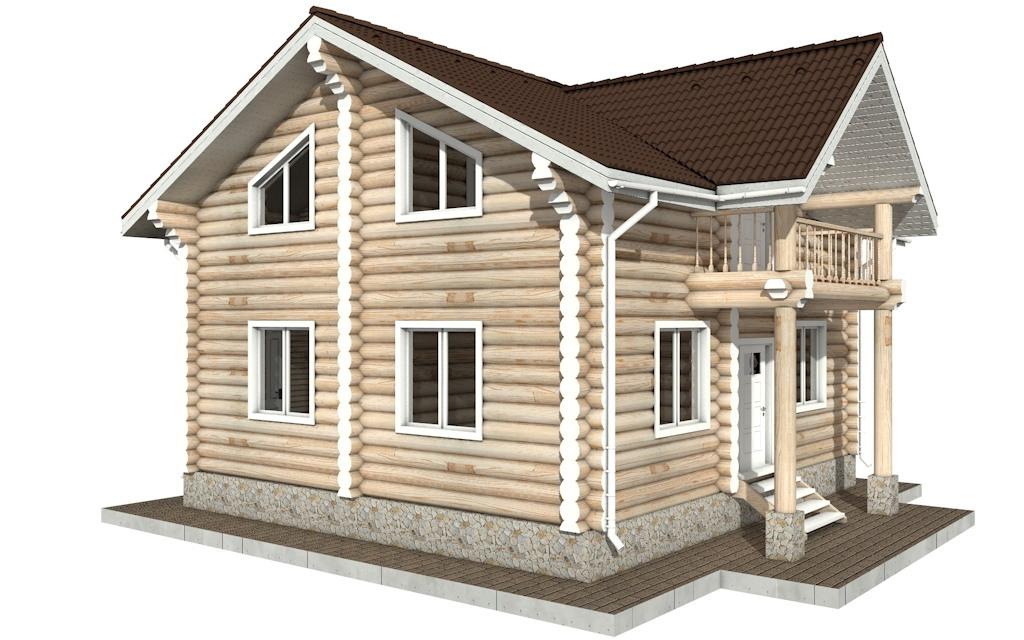 Фото #3: Красивый деревянный дом РС-86 из бревна