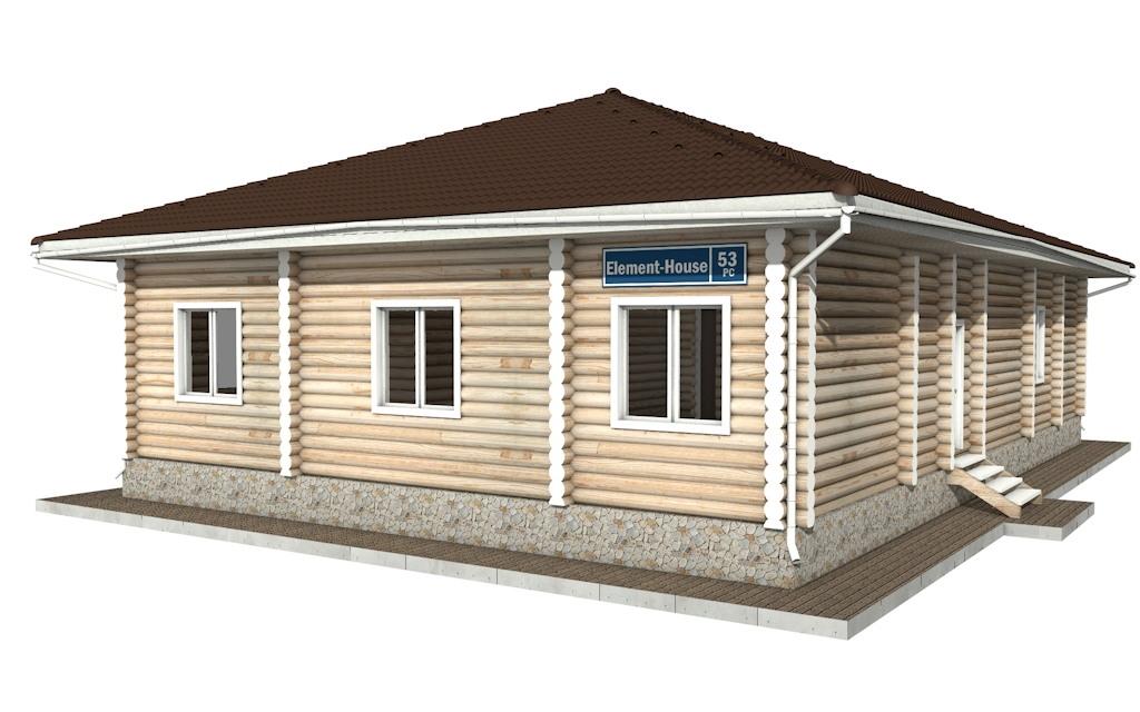 РС-53 - деревянный дома из бревна (из сруба)