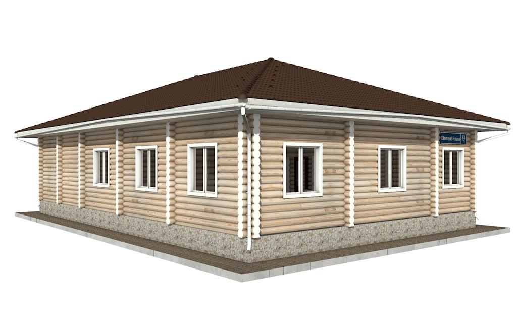 Фото #3: Красивый деревянный дом РС-53 из бревна