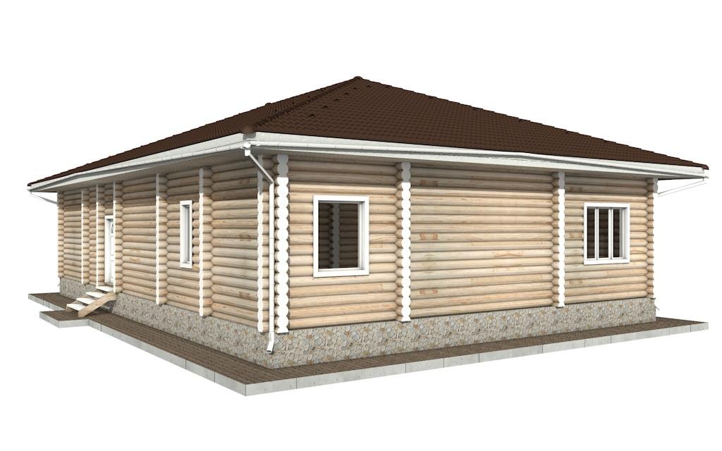 Фото #4: Красивый деревянный дом РС-53 из бревна