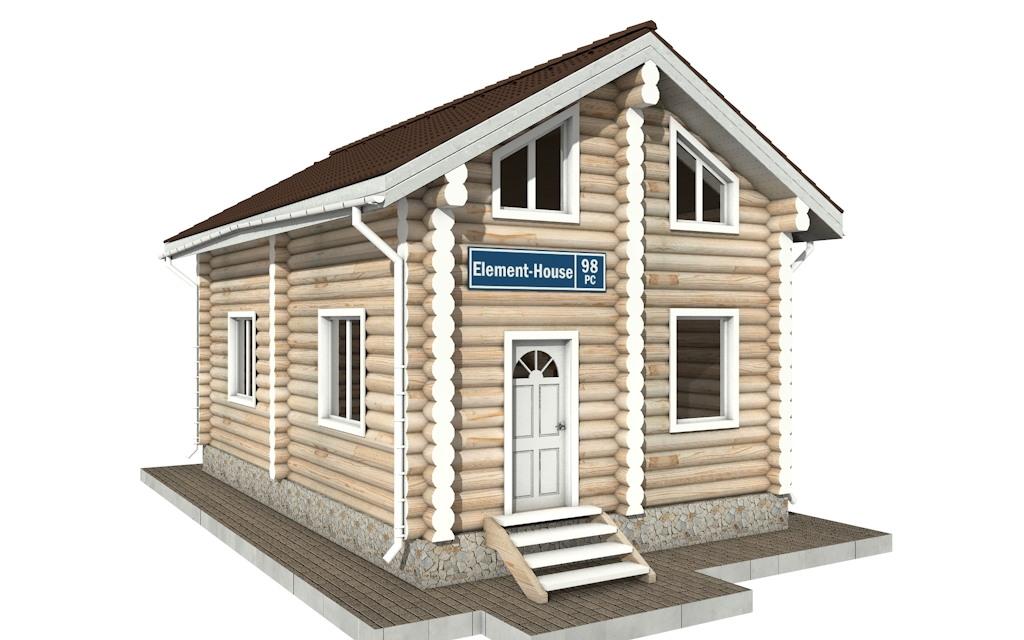 РС-98 - деревянный дома из бревна (из сруба)