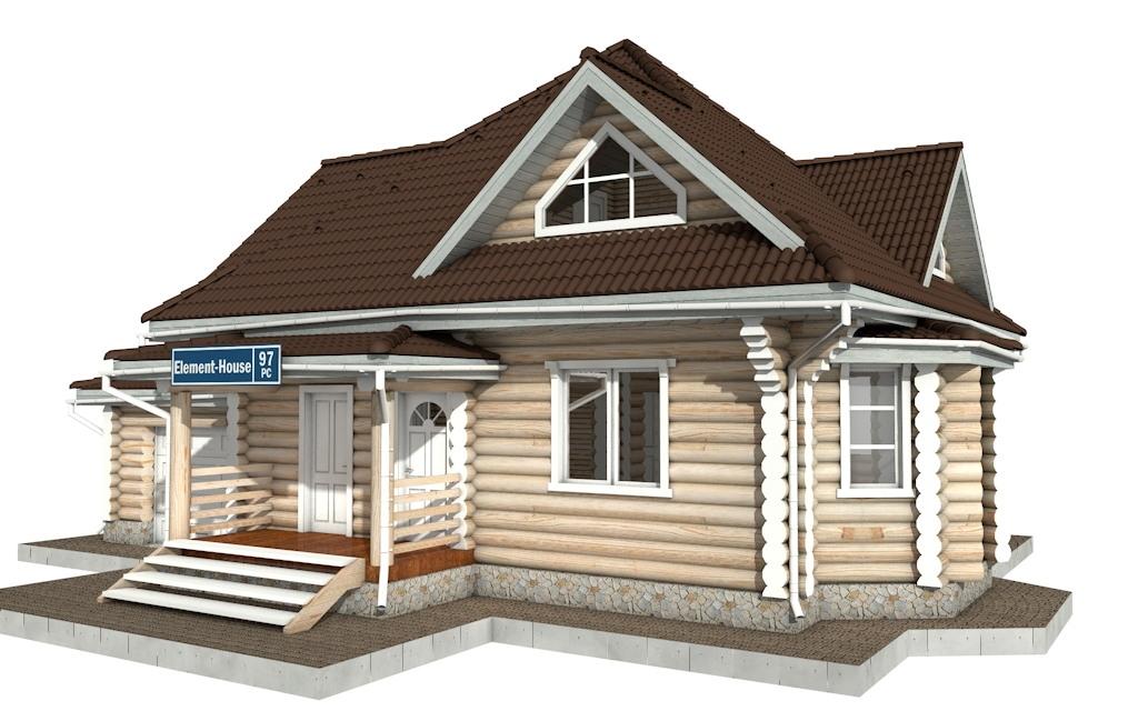 Фото #4: Красивый деревянный дом РС-97 из бревна
