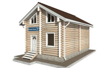 Фото #2: Красивый деревянный дом РС-98 из бревна
