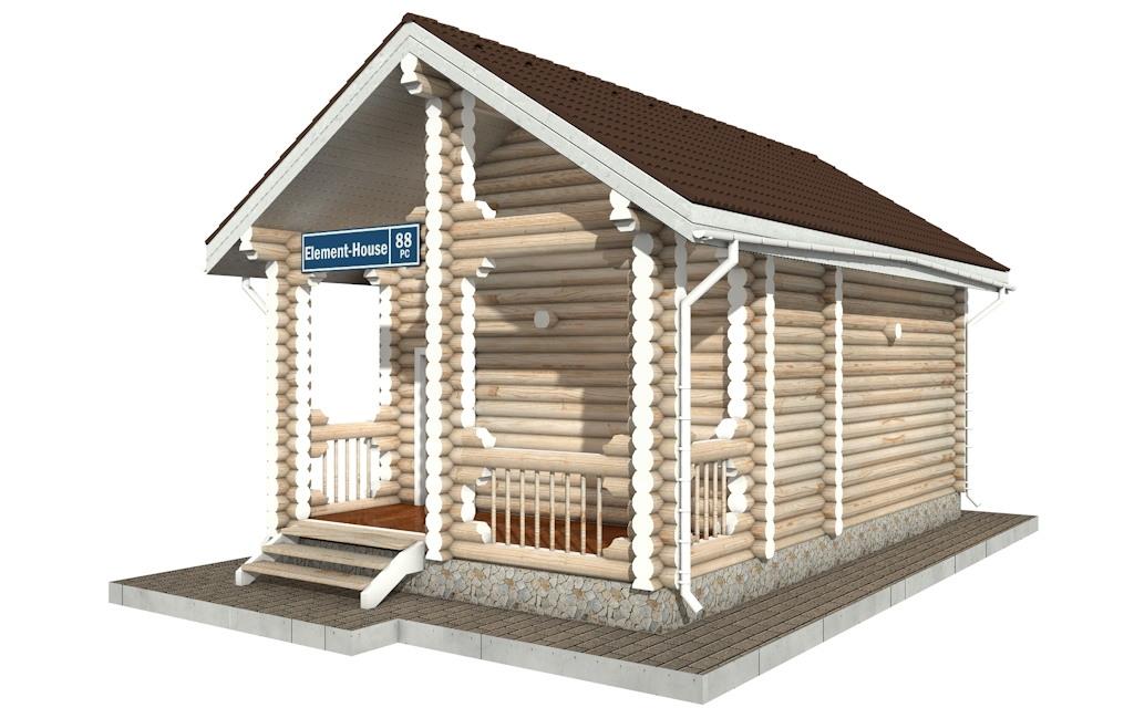 Фото #4: Красивый деревянный дом РС-88 из бревна