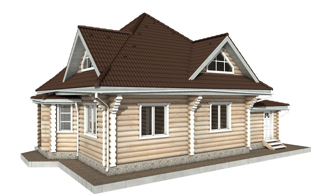 Фото #5: Красивый деревянный дом РС-97 из бревна
