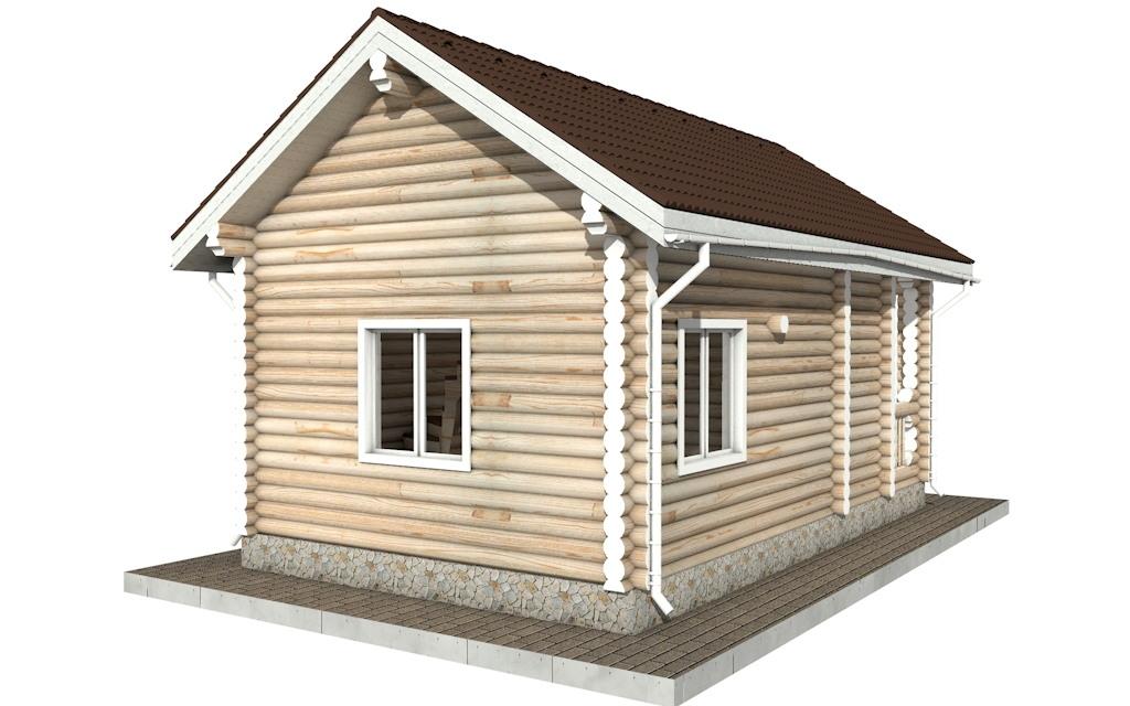 Фото #5: Красивый деревянный дом РС-88 из бревна