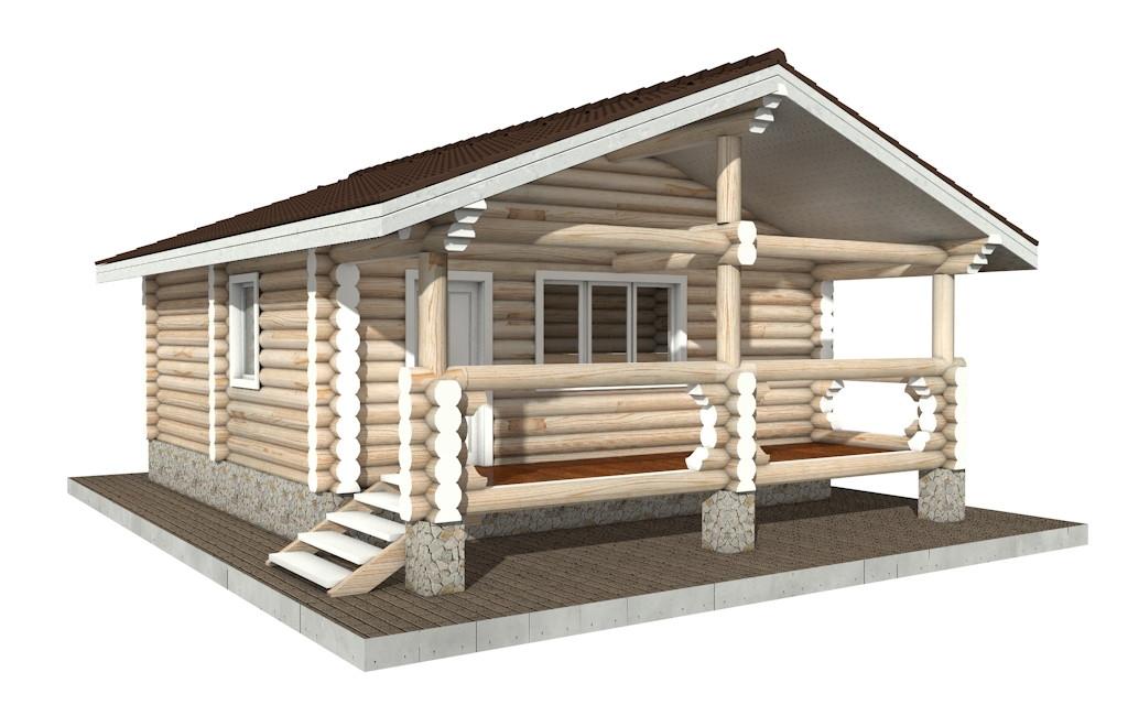 Бр-24 - деревянная рубленная баня из бревна (из сруба)