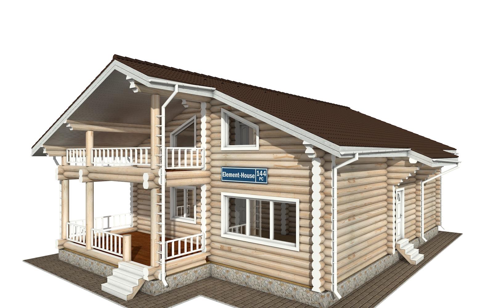 РС-144 - деревянный дома из бревна (из сруба)