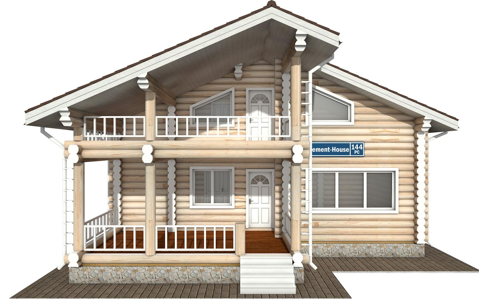 Фото #6: Красивый деревянный дом РС-144 из бревна