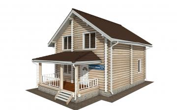 Фото #1: Красивый деревянный дом РС-145 из бревна