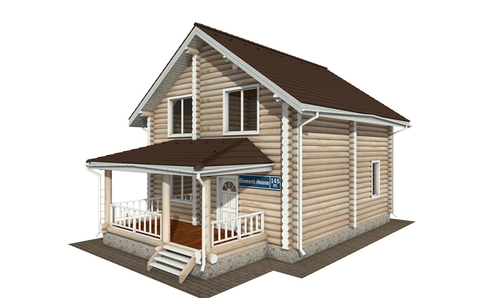 РС-145 - деревянный дома из бревна (из сруба)