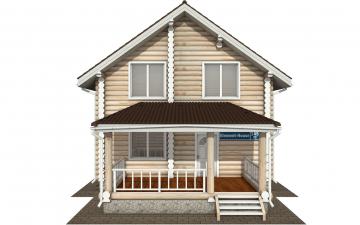 Фото #7: Красивый деревянный дом РС-145 из бревна