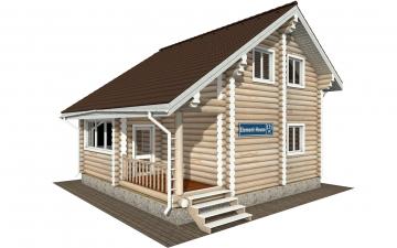 Фото #1: Красивый деревянный дом РС-171 из бревна
