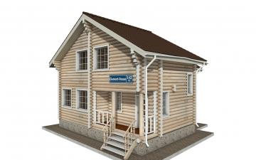 Фото #1: Красивый деревянный дом РС-142 из бревна