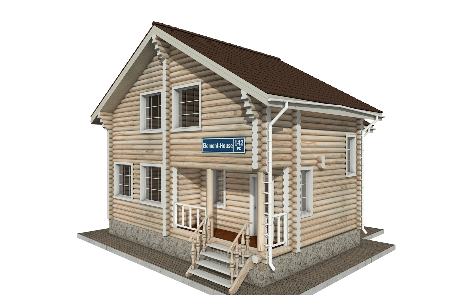 РС-142 - деревянный дома из бревна (из сруба)