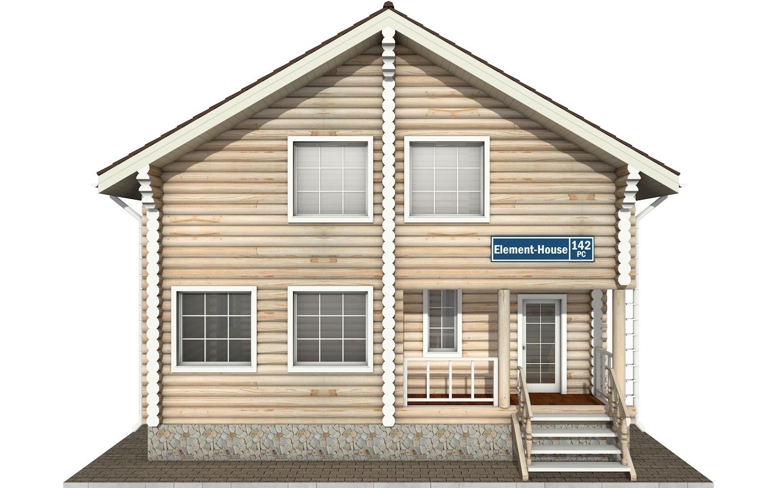 Фото #6: Красивый деревянный дом РС-142 из бревна