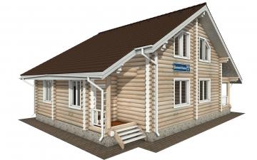 Фото #1: Красивый деревянный дом РС-143 из бревна