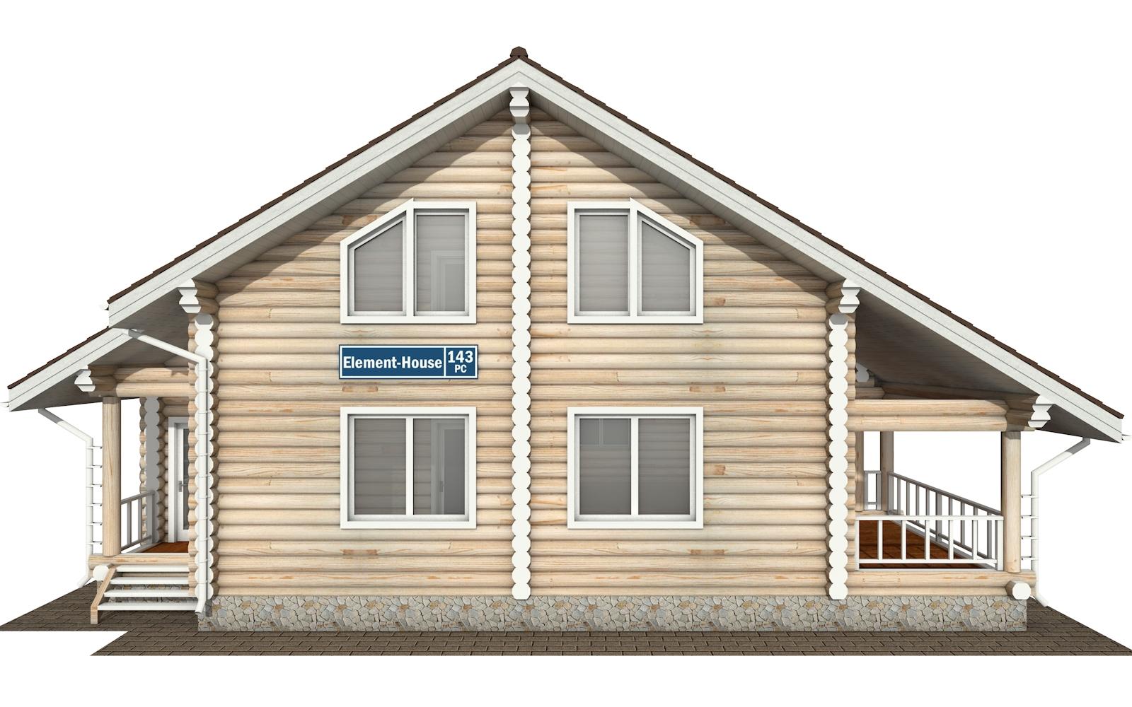 Фото #6: Красивый деревянный дом РС-143 из бревна