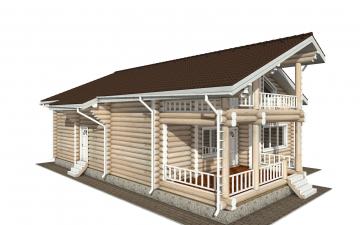 Фото #5: Красивый деревянный дом РС-144 из бревна