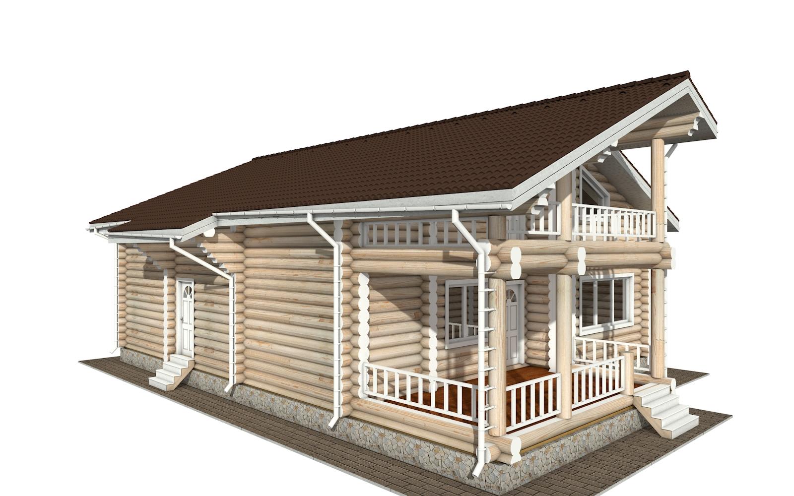 Фото #4: Красивый деревянный дом РС-144 из бревна