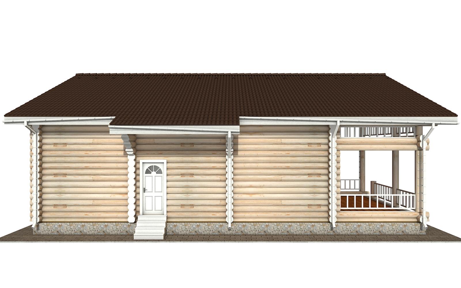 Фото #7: Красивый деревянный дом РС-144 из бревна