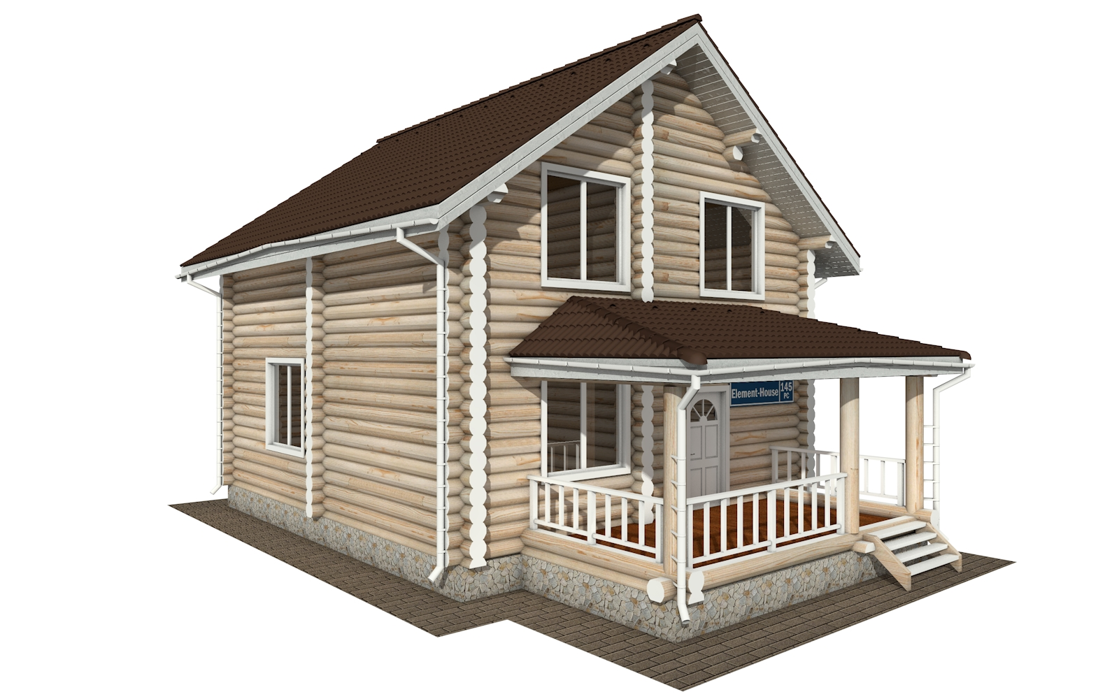 Фото #2: Красивый деревянный дом РС-145 из бревна