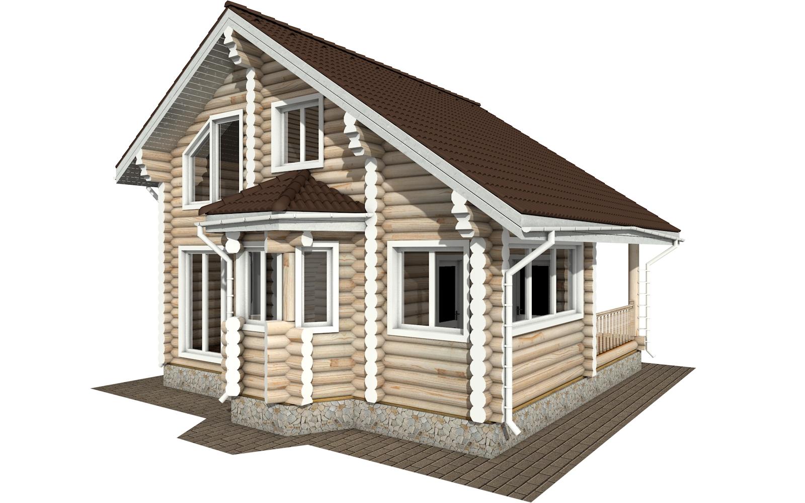 Фото #4: Красивый деревянный дом РС-171 из бревна