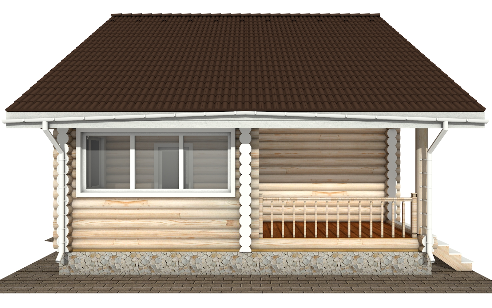 Фото #7: Красивый деревянный дом РС-171 из бревна