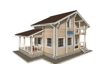 Фото #1: Красивый деревянный дом РС-141 из бревна