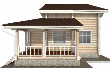 Фото #8: Красивый деревянный дом РС-141 из бревна