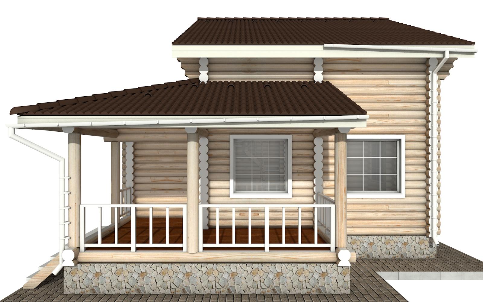 Фото #7: Красивый деревянный дом РС-141 из бревна