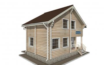 Фото #2: Красивый деревянный дом РС-142 из бревна