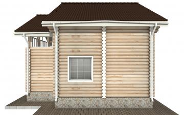 Фото #9: Красивый деревянный дом РС-142 из бревна