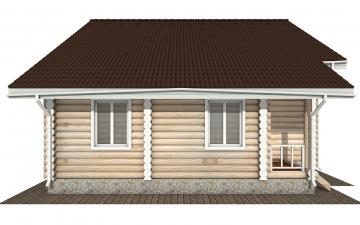 Фото #8: Красивый деревянный дом РС-143 из бревна